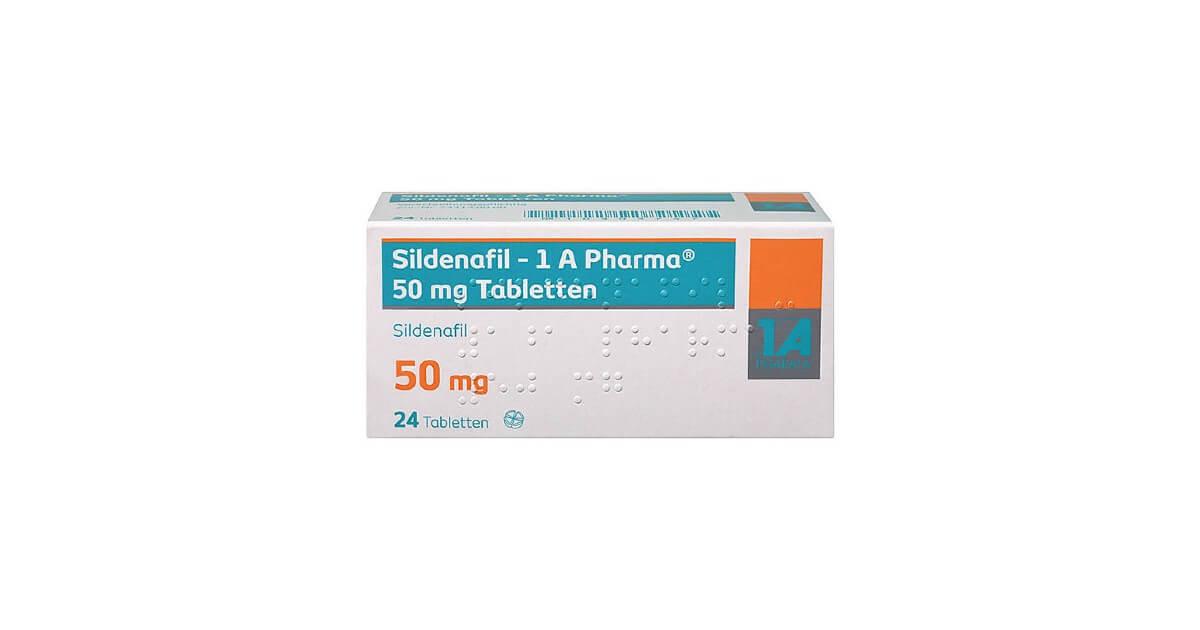 Sildenafil - 1 A Pharma 50 mg Filmtabletten